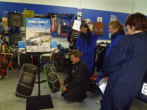 Fitting Snowchains Demonstration, Garage Workshop Queenstown